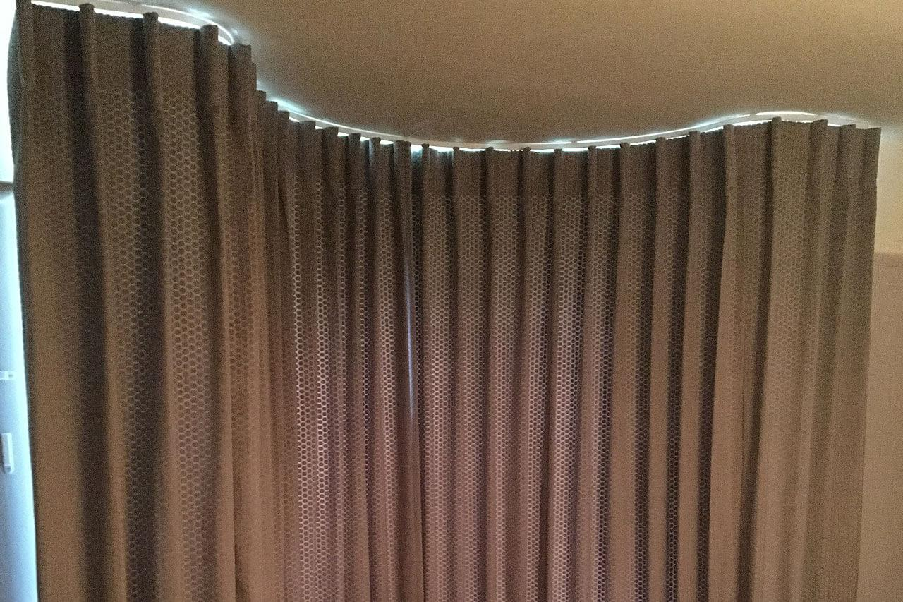 Curtains for a bay window in Rothwell 04
